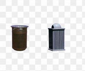 Outdoor Trash Can - Waste Container Iron PNG