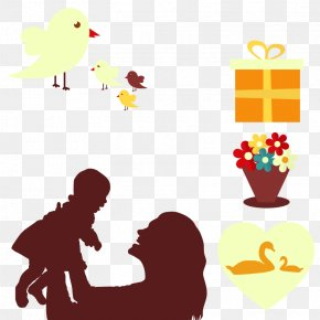 Vector Mother And Child - Child Mother Clip Art PNG