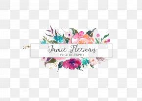 Watercolor Banner - Floristry Logo Floral Design Watercolor Painting Flower PNG