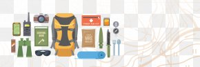 Travel Backpack Tool Vector Material - Rock-climbing Equipment Flat Design Icon PNG