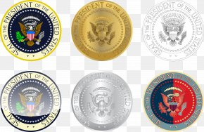 Vector Coins - Seal Of The President Of The United States Coin Logo PNG