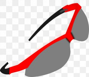 Red Sunglasses Cliparts - Goggles Sunglasses Clip Art PNG