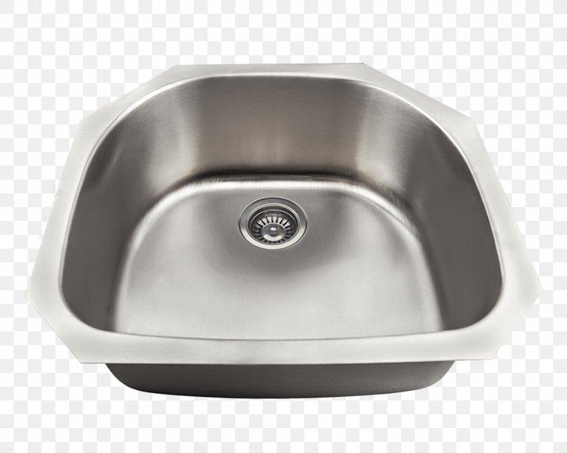 Kitchen Sink Kitchen Sink MR Direct Brushed Metal, PNG, 1000x800px, Sink, Bathroom, Bathroom Sink, Bathtub, Bowl Download Free