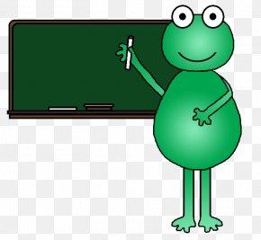Graphics School - Frog School Teacher Clip Art PNG