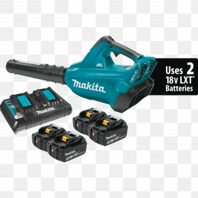 Lithium-ion Battery - Lithium-ion Battery Cordless Makita Leaf Blowers Brushless DC Electric Motor PNG