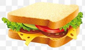 Sandwich Clipart Image - Hamburger Submarine Sandwich Vegetable Sandwich PNG
