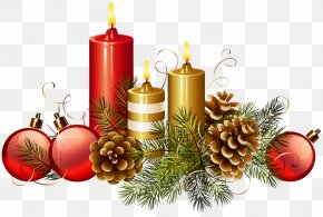 Christmas Ornaments - Clip Art David Richmond Christmas Day The Christmas Candle Candy Cane PNG
