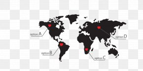World Map - World Map Globe Clip Art PNG
