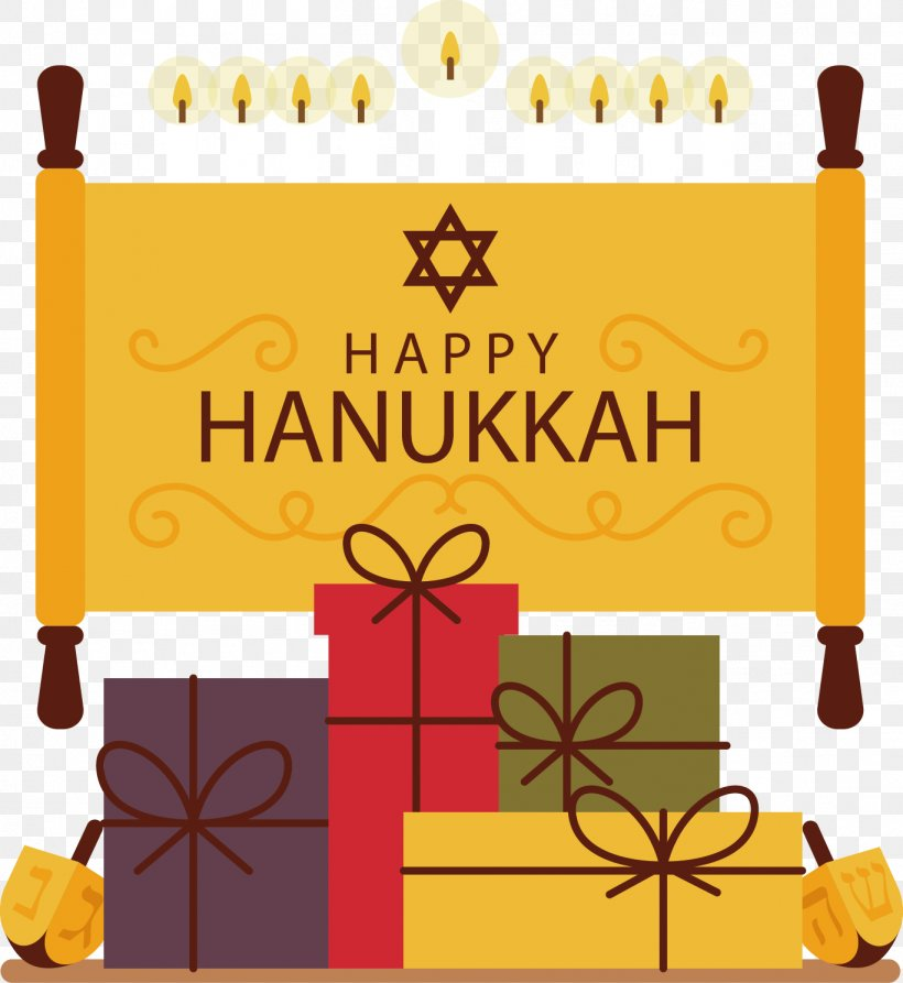 Happy Hanukkah, PNG, 1368x1490px, Gift, Area, Candle, Chinese New Year, Flat Design Download Free