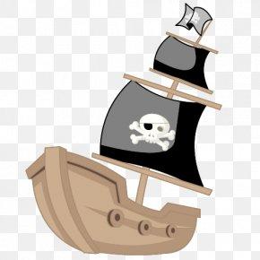 Cartoon Pirate Ship - Piracy Cartoon Ship PNG