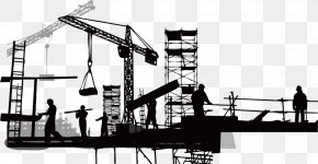 Construction Silhouette - Vector Building Construction Competencies And Building Quality: Case Study Results Architectural Engineering Proge Costruzioni PNG