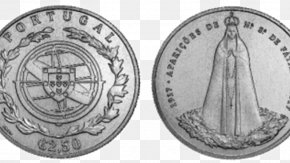 Visiting - 2 Euro Coin Our Lady Of Fátima Silver PNG