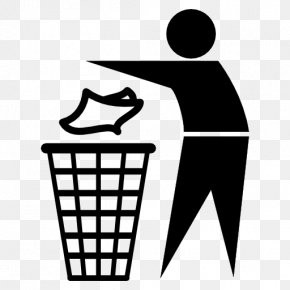 Black Trash - Waste Container Paper Recycling Clip Art PNG