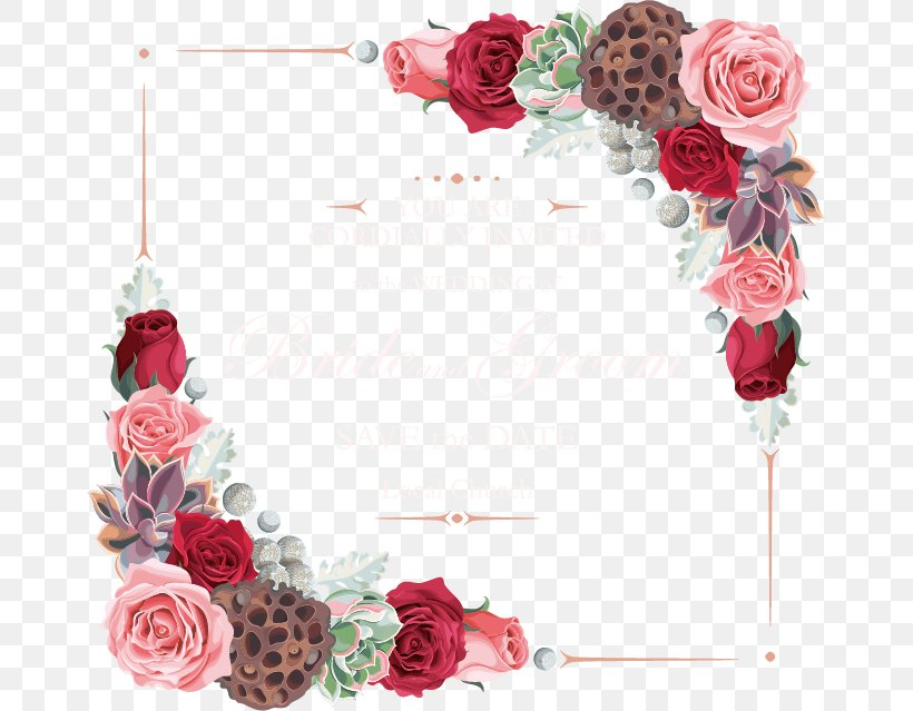Flower Garden Roses Euclidean Vector, PNG, 663x639px, Border Flowers, Artificial Flower, Cut Flowers, Floral Design, Floristry Download Free