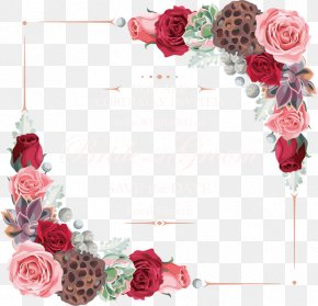 Vector Flowers Border - Flower Garden Roses Euclidean Vector PNG