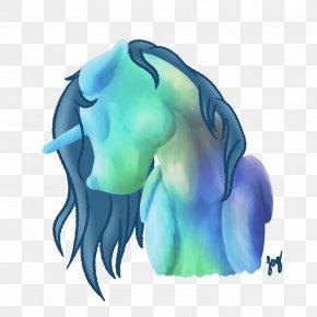 Chalk - Horse Aqua Turquoise Teal PNG