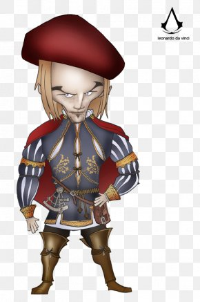 Leonardo Da Vinci - Assassin's Creed Unity Costume Design Cartoon Character PNG