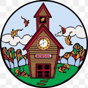 Firehouse Clipart - School Autumn Clip Art PNG