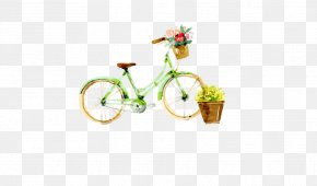 Small Fresh Bike - Watercolor Painting Bicycle Illustration PNG