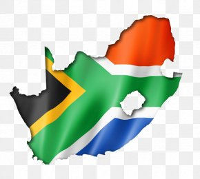 Flag Floating South Africa Map - Flag Of South Africa Map Stock Photography Illustration PNG