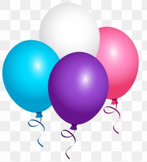 Flying Balloons Clipart Image - Confetti Balloon Clip Art PNG