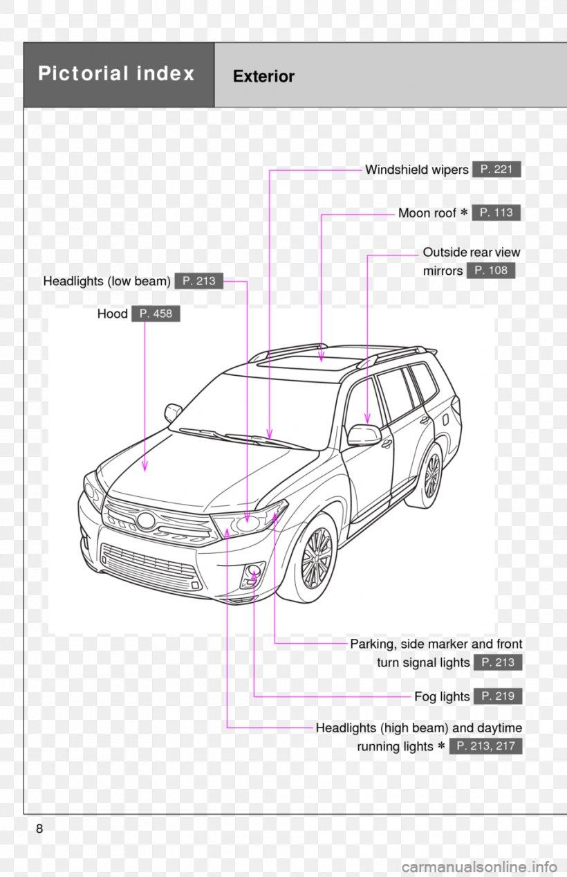 2013 toyota highlander 2010 toyota highlander car wiring diagram, png,  960x1484px, toyota, area, artwork, auto part,  favpng.com
