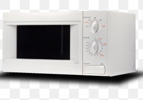 White Household Microwave Oven - Microwave Oven Electronics Small Appliance PNG