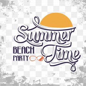 Summer Time Vector - Beach Art Font PNG