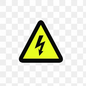 Triangle Commonly Used Electric Shock Tips - Electricity Warning Sign Hazard Symbol PNG