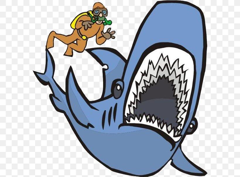 Shark Underwater Diving Clip Art, PNG, 598x606px, Shark, Animation, Artwork, Cartoon, Fish Download Free