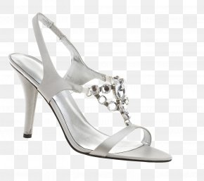White Sandals - Robe Shoe High-heeled Footwear Sandal Fashion PNG