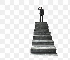 The Man Standing On The Stairs - Stairs Stock Photography Concrete PNG