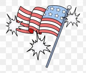 Cartoon American Flag - Flag Of The United States Independence Day Clip Art PNG