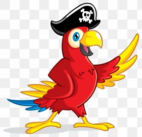 Pirate Parrot - Pirate Parrot Piracy Clip Art PNG