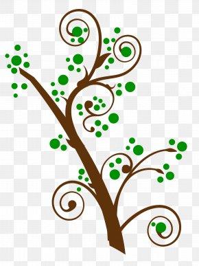 Swirl Tree - Branching Clip Art PNG
