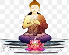 Like The Buddha - Bodhi Tree Nelumbo Nucifera Buddhism Lotus Position Padma PNG