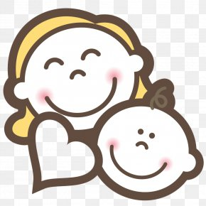 Baby And Mom Smile - Mother PNG