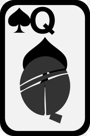 Ace Of Spades Clipart - Queen Of Hearts Red Queen Playing Card Clip Art PNG