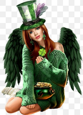 Saint Patrick's Day - Saint Patrick's Day Woman Social Media Clip Art PNG