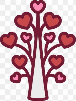 Hand Drawn Heart-shaped Pattern Tree - Heart Icon PNG