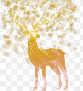 Vector Christmas Decoration Elk - Idea Creativity PNG