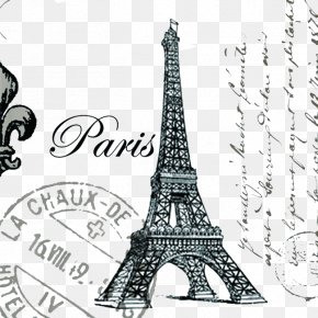 Eiffel Tower Stamp - Eiffel Tower Throw Pillow Cushion Couch PNG
