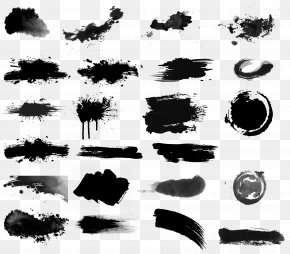 Black Ink Watercolor Brush - Ink Brush Drawing Inker PNG