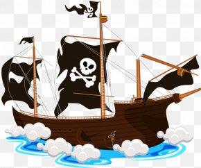 Crazy Pirate Ship - Ship Piracy Clip Art PNG