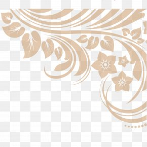 Coffee Color Winding Flower Rat Vector Material - Color Euclidean Vector Computer File PNG