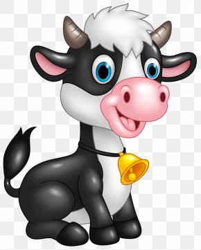 Cute Cow Cartoon Clipart Image - Cattle Cartoon Clip Art PNG