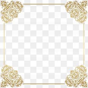 Gold Border Frame Deco Clip Art - Gold Frame Picture Frame Clip Art PNG