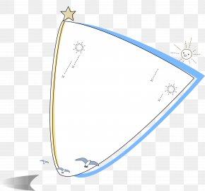 Seagull Blue Border - Euclidean Vector Cartoon Adobe Illustrator PNG