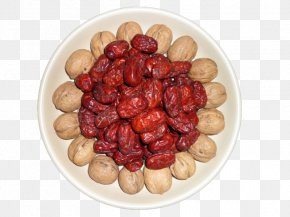 Red Dates And Walnuts - Nut Plant Milk Vegetarian Cuisine Jujube PNG