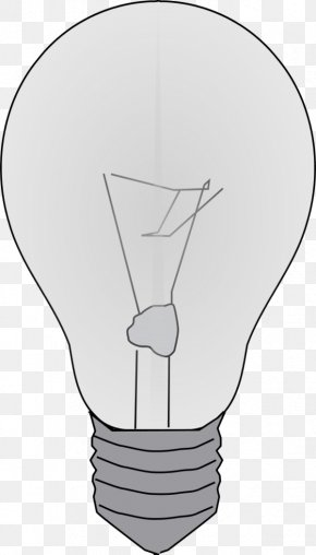 Picture Of Lightbulb - Black And White Finger Angle Cartoon PNG